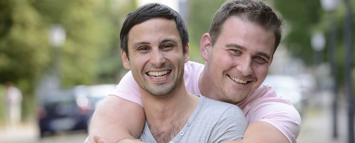 Gay Couple Smiling